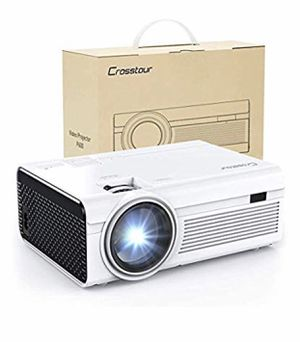 Projector, Mini LED Video Projector 1080P Supported, Crosstour HD Portable Projector with HDMI and AV Cable, Work with TV Box/PC/PS4/HDMI/VGA/TF/AV/U for Sale in Fort Belvoir, VA