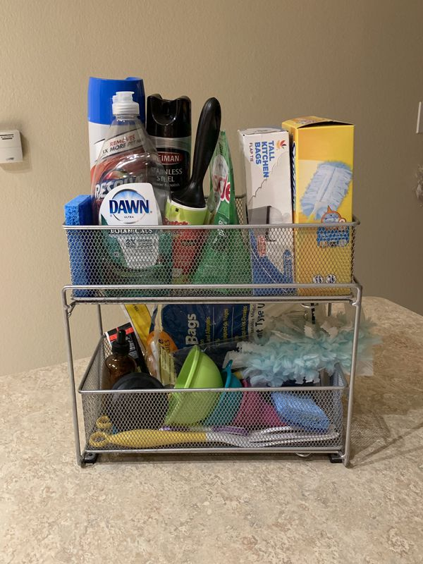 2 level under sink organizer