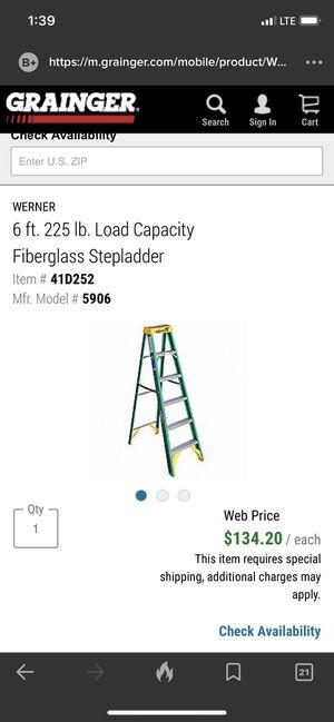 GRAINGER 6ft. 225lbs fiberglass ladder for Sale in Falls Church, VA