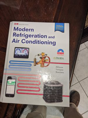 Modern refridgeration and air conditioning 20th addition Work book for Sale in Riverside, CA