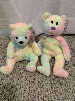 "Ty beanie baby bears ""mellow"" and ""groovy"" for Sale in Menifee, CA"