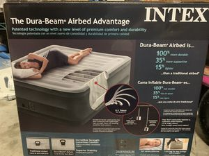 Intex Dura-Beam Deluxe Comfort Plush Elevated Airbed Series for Sale in Orlando, FL