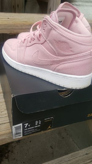 Kids Nike Air Jordan 1 Mid BG Easter Pink for Sale in Dover 11907dcea