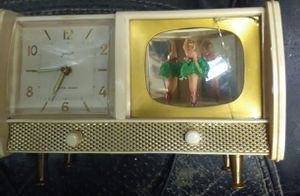 ANTIQUE ALARM CLOCK DANCING BALLERINA MADE IN GERMANY for Sale in Anaheim, CA
