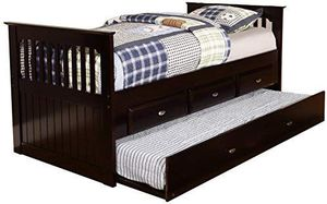 """NEW IN BOX...Twin Rake Bed with 3 Drawers and Twin Trundle, Espresso """" mattress not included"""" for Sale in Boca Raton, FL"""