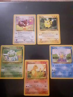 Pokemon Cards Base Set Starters, Jungle Set Pikachu and Eevee for Sale in VA,  US