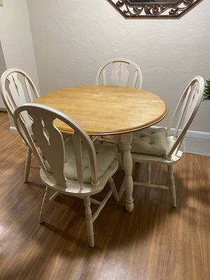 Small collapsible kitchen table and 4 chairs for Sale in Mansfield, MA
