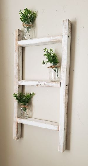 Farmhouse ladder shelf for Sale in Tampa, FL