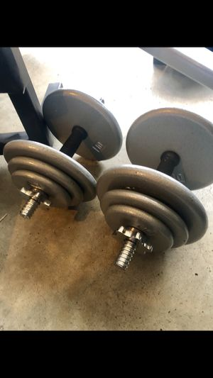 5-40 adjustable dumbbells weights and plates for Sale in Saint Charles, MO