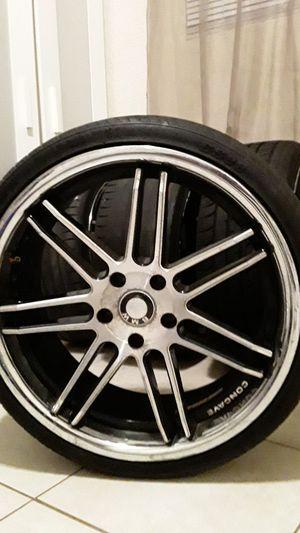 BMW aftermarket rims chrome n black 20 inch for Sale in Miami Gardens, FL