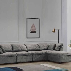 NEW LIMA FABRIC SECTIONAL SOFA IN GRAY. ONLY $999. NO CREDIT CHECK OR ONE YEAR DEFERRED INTEREST FINANCING AVAILABLE for Sale in Brandon, FL