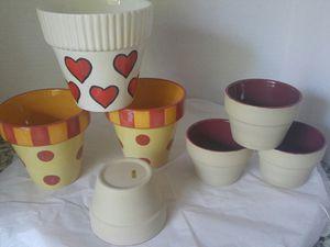 7 Small Ceramic pots for Sale in Farmington, UT
