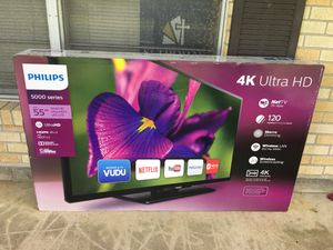 "BRAND NEW PHILLIPS 55"" LED 4K SMART TV for Sale in Baton Rouge, LA"