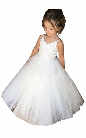Wedding - Flower Girl Dress - Lace Tulle for Sale in Fresno, CA