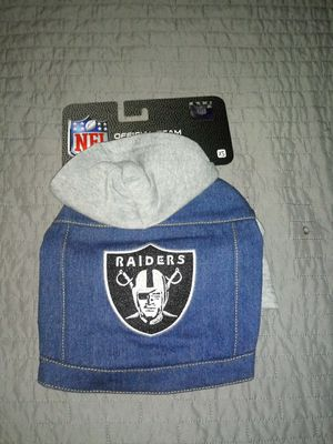Raiders denim hoodie for dogs xs for Sale in Fresno, CA