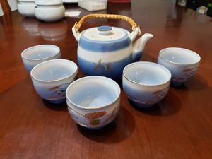 Sake or tea pot and cups for Sale in Rockville, MD