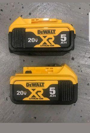 2 Dewalt baterias 5.0 ah for Sale in Manassas, VA
