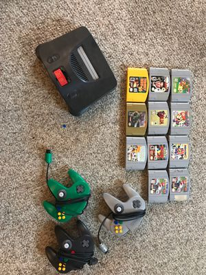 Nintendo 64+games+controllers! for Sale in Seattle, WA