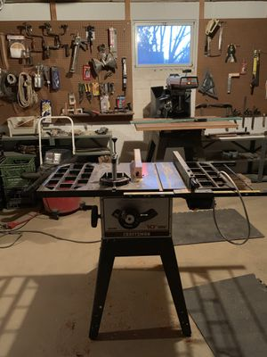10 inch craftsman cast iron table saw for Sale in Falls Church, VA