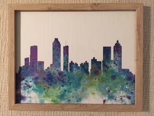 Atlanta Graphic Art Photo in Wood Frame for Sale in Montgomery, AL