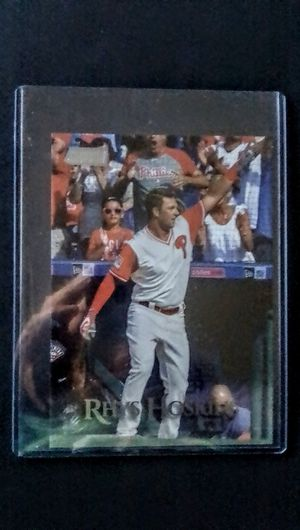 Baseball Cards -- Rhys Hoskins -- Philadelphia Phillies -- Oversized Card for Sale in Cypress, CA