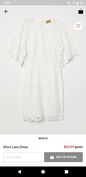 H&M little white dress, size 4 (perfect for bachelorette, wedding shower) for Sale in San Francisco, CA