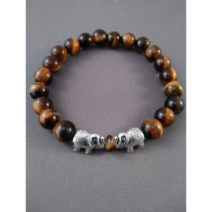 Tiger eyed beaded bracelet with elephant charm for Sale in Nashua, NH