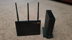 Linksys Modem and Asus Router for Sale in North Las Vegas, NV