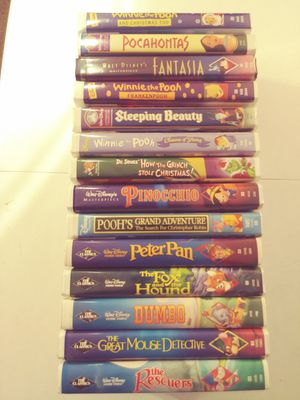 16 DISNEY VHS CLASSIC MOVIES for Sale in Kennewick, WA