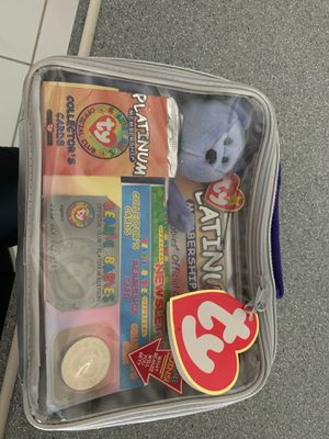 Limited edition platinum membership beanie baby case for Sale in Davie, FL