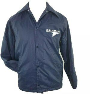 Vintage Grumman Aircraft Satin Bomber Windbreaker Jacket Mens S Hipster Warm Up for Sale in Bartow, FL