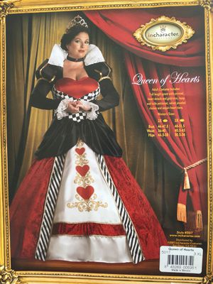 Queen Of Hearts Halloween Costume Size 3XL for Sale in Draper, UT