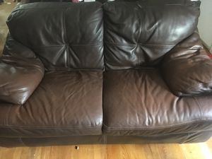 Leather Loveseat for Sale in Cary, NC