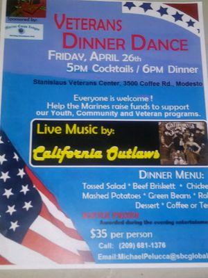 Veterans dinner dance for Sale in Modesto, CA