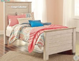 NEW IN THE BOX. STYLISH TWIN PANEL BED, SKU# TCB267-53-52-83 for Sale in Fountain Valley, CA
