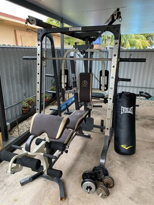 Home gym- smith machine- workout equipment- gym equipment for Sale in Miami, FL