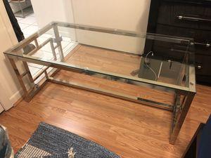 Silver Glass Top Coffee Table for Sale in Miami, FL