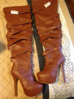 Brown thigh high boots for Sale in Lexington, MA