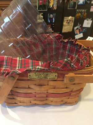 1992 Christmas edition Longaberger basket for Sale in Brentwood, TN