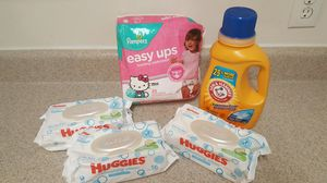 Diapers laundry huggies wipes for Sale in Stone Mountain, GA