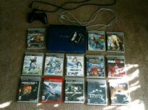Jailbroken PS3, one controller w/ charger and 13 games for Sale in Beaumont, CA