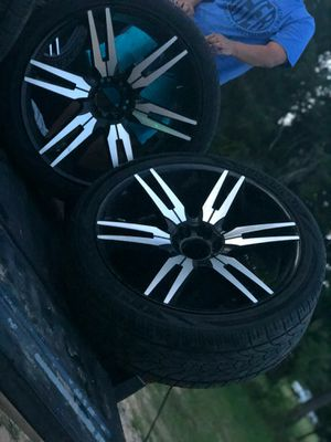24inch wheels and tires $1300 or best offer. for Sale in Houston, TX