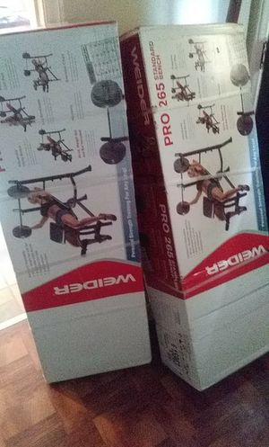 Excersie equipment Weight set and weights brand new and also elliptical sell 150.00 each will to go no lower then 100.00 a piece for Sale in Detroit, MI