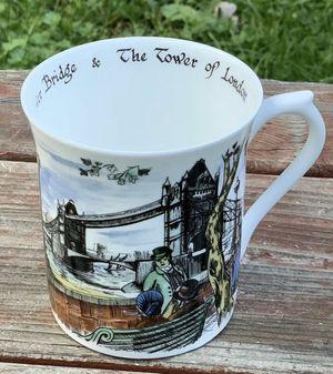 Queens Fine Bone China Scenes of Old London Mug Tower Bridge Carole E Watson for Sale in Arlington, TX