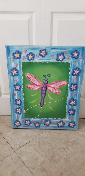 "Painting dragonfly 20 "" X 24"" Inches for Sale in Hialeah, FL"