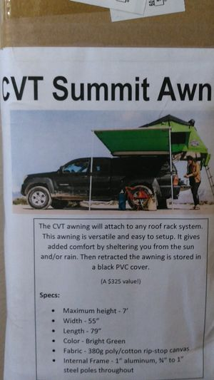 CVT vehicle/trailer mount awning for Sale in Vancouver, WA