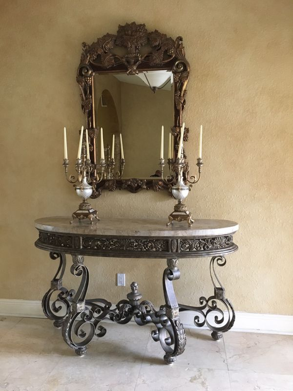 Polanski Console Table For Entrance Mirror And Everything