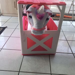 Unicorn 6 Volt Plush With House $50 Needs Battery for Sale in West Palm Beach, FL