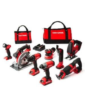 CRAFTSMAN 20 V 8-Tool 20-Volt Max Power Tool Combo for Sale in Cypress, TX