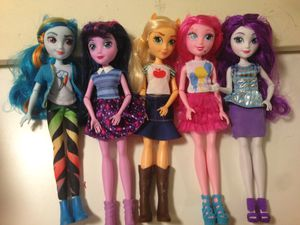 Equestria girls my little pony barbies for Sale in Chino, CA